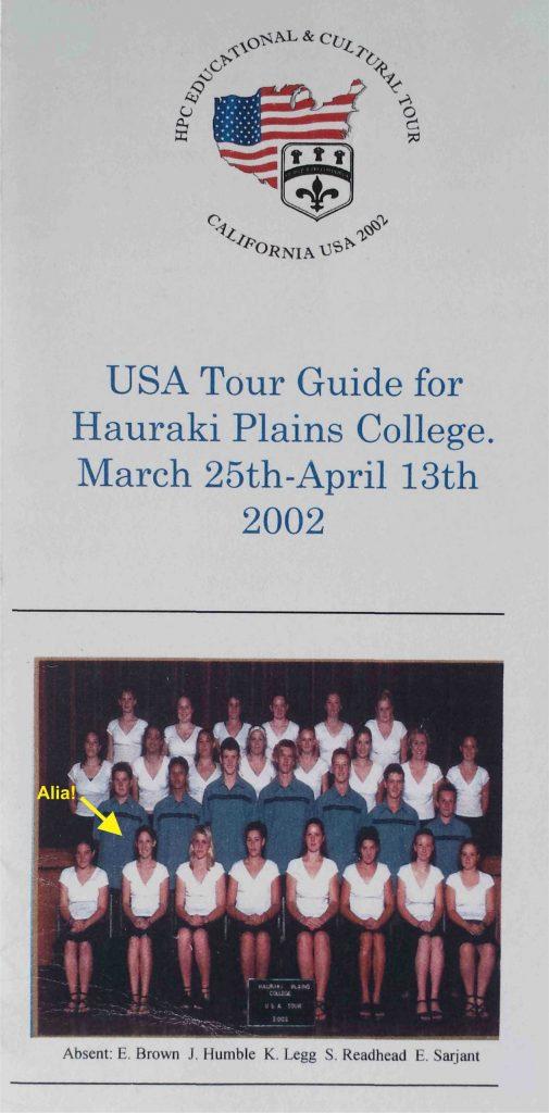 Hauraki Plains College USA Trip 2002
